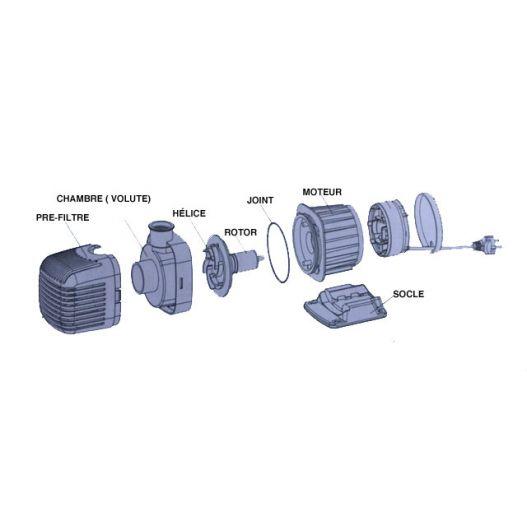 Pompe de bassin 3500 L/H TRS