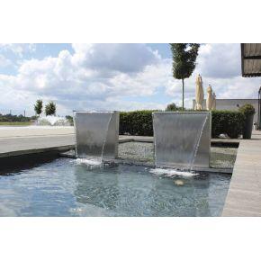 Kit Pied Lame d'eau Waterfall Set 60 cm inox OASE