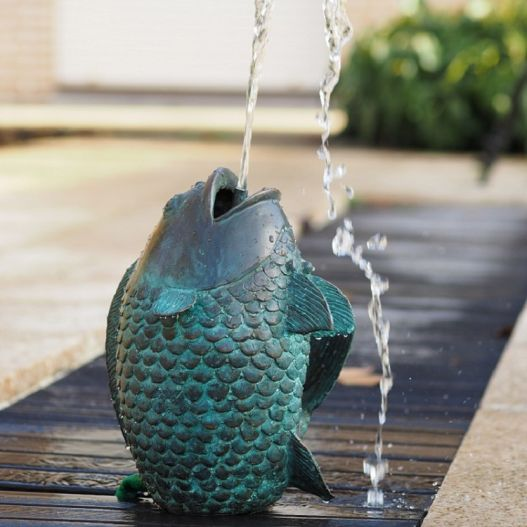 Statue Bronze Poisson