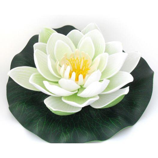 Fleur flottante artificielle blanche Ø13cm