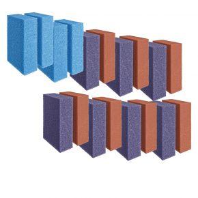 Set de mousses de rechange rouges/violettes/bleu ScreenMatic 140000