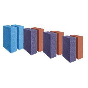 Set de mousses de rechange rouges/violettes/bleu ScreenMatic 40000