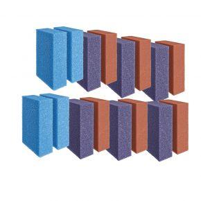Set de mousses de rechange rouges/violettes/bleu ScreenMatic 90000