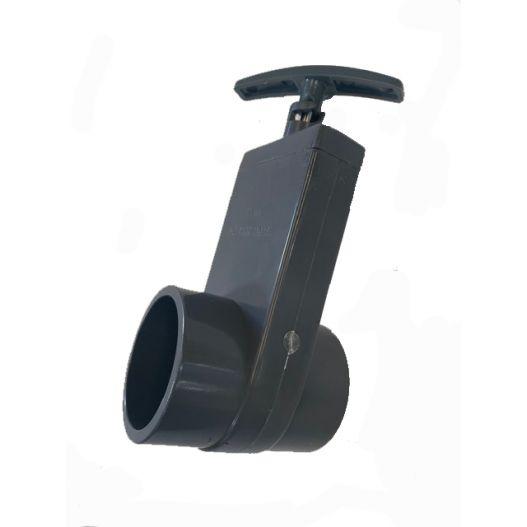 Vanne PVC guillotine diamètre 50 mm