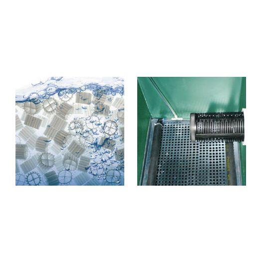 Vue interne Filtre bassin Filterline Bed 10m3