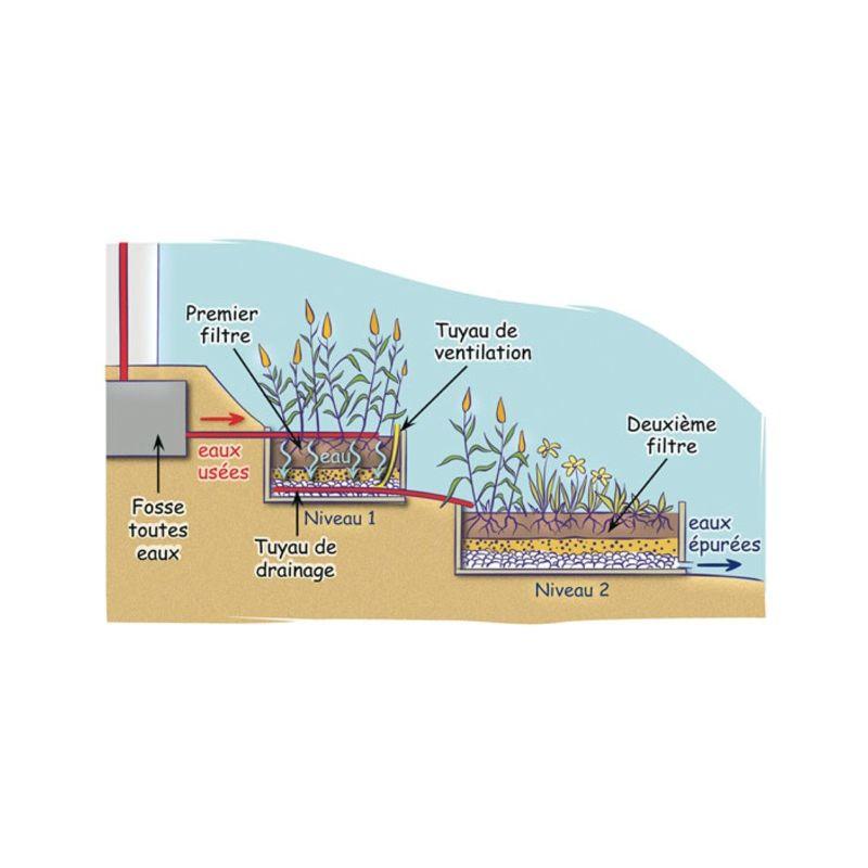 bache spéciale phyto-epuration schéma d'installation
