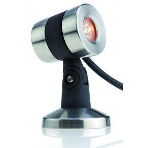 Projecteur exterieur ledLunaqua Maxi LED Solo Oase Design en acier inox