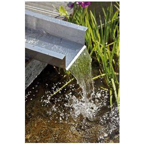 Elément de ruisseau inox Sortie Créez votre ruisseau
