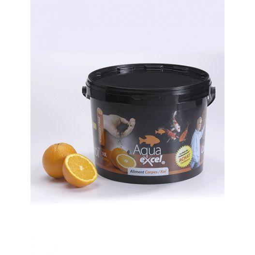 Nourriture Carpe Koi Orange 10L Aqua Excel