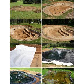 Feutre de bassin 400g/m2 anti-poinçonnement rouleau 300m2