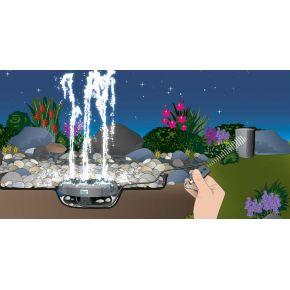 Pompe fontaine Water Quintet Oase Fontaine 5 jets télécommandés