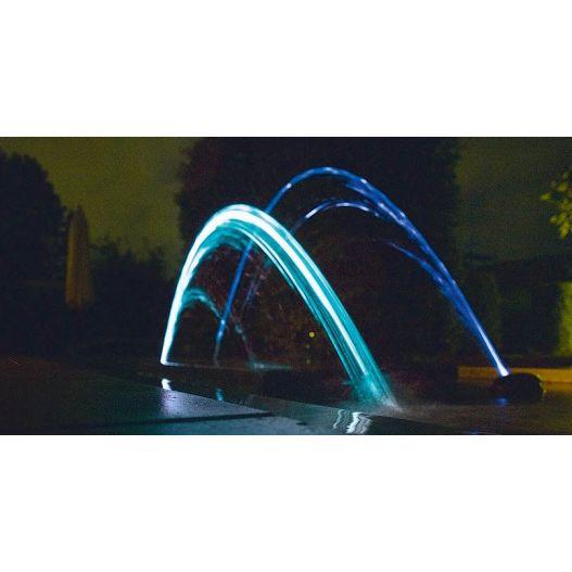Pompe fontaine Water Jet Lightning Oase Deux jets d'eau multicolores