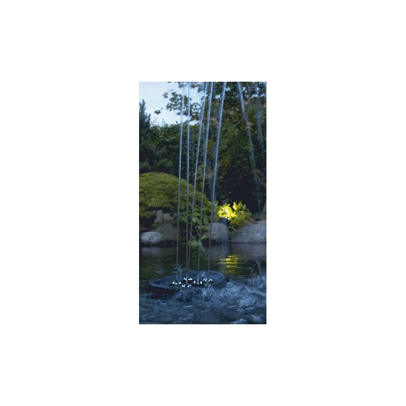 Pompe fontaine Water Starlet Jeu d'eau flottant éclairé par LED