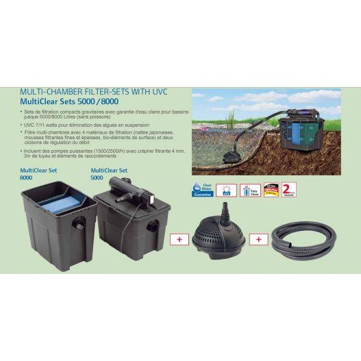Kit filtration bassin pondomulticlear 5000